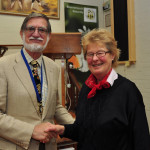 BNSS President Rod Cooper with member Mary Thornton.